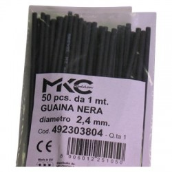 GUAINA NERO 2,4MM 1 MT MKC...